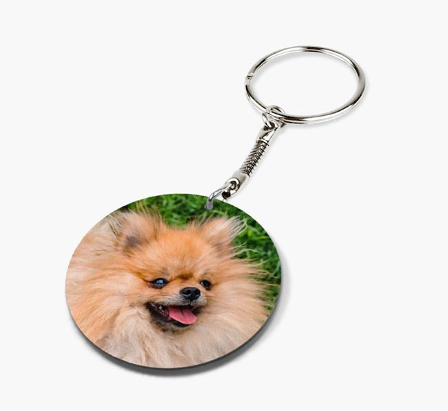 Keyring with photo of your Pomeranian