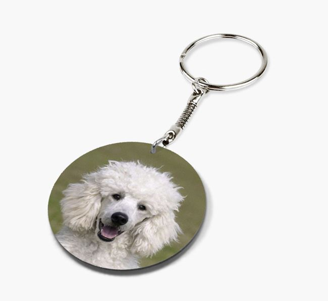 Keyring with photo of your Poodle