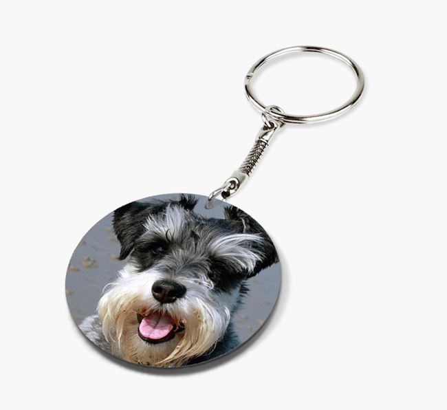 Keyring with photo of your Schnauzer