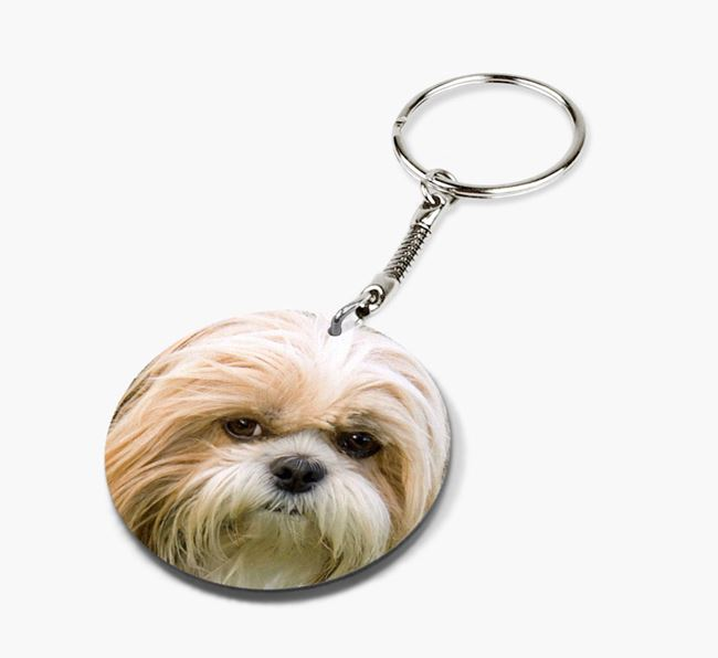 Keyring with photo of your Shih Tzu