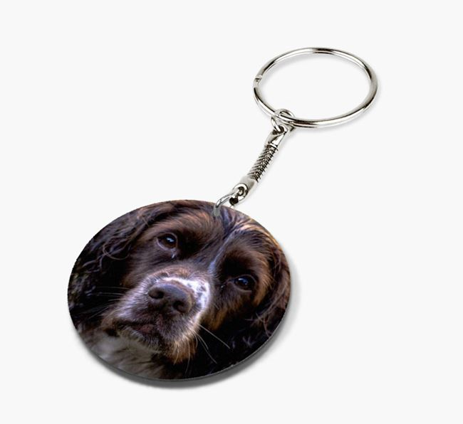 Keyring with photo of your Springer Spaniel
