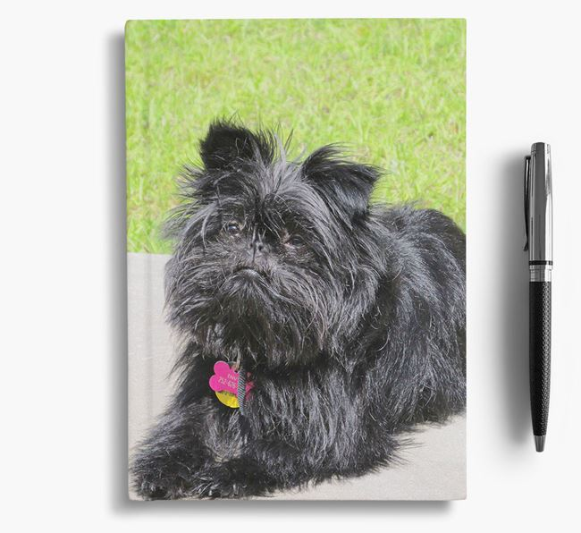 Notebook with photo of your Affenpinscher