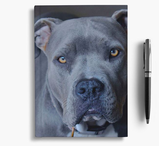 Notebook with photo of your American Pit Bull Terrier