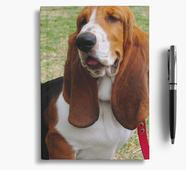 Notebook with photo of your Basset Hound