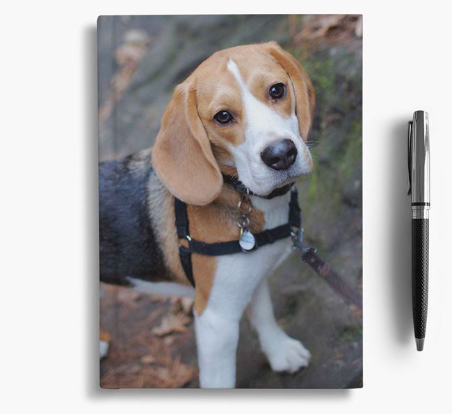 Notebook with photo of your Beagle