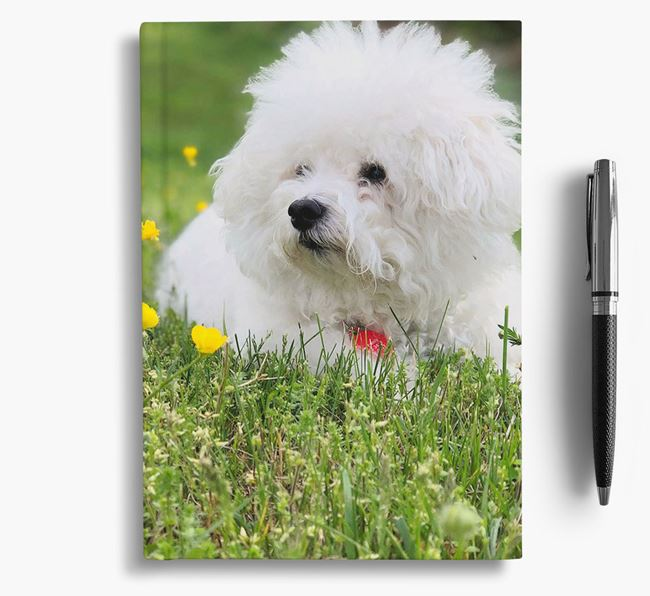 Notebook with photo of your Bichon Frise