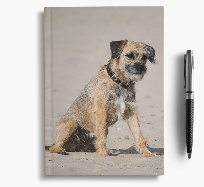 Notebook with photo of your Border Terrier