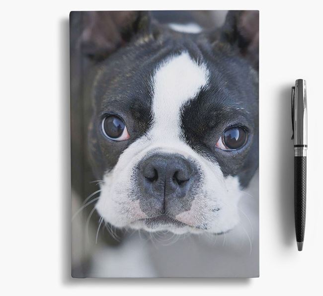Notebook with photo of your Boston Terrier