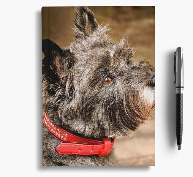 Notebook with photo of your Cairn Terrier