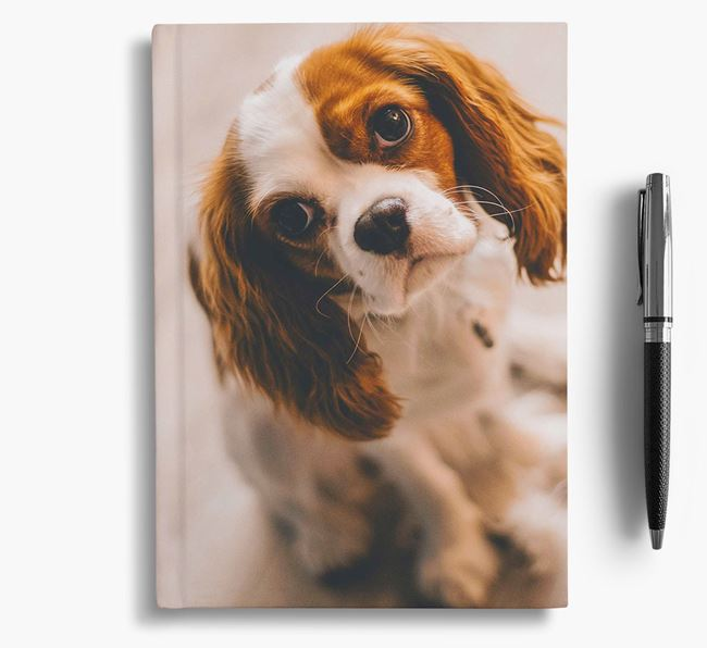 Notebook with photo of your Cavalier King Charles Spaniel
