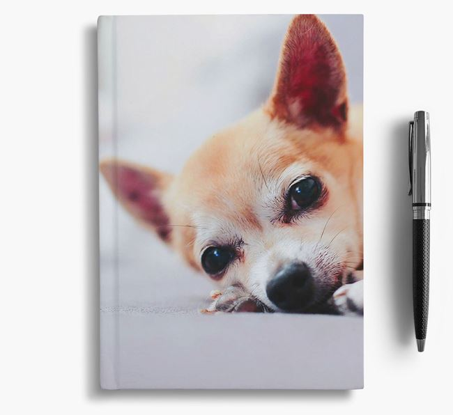 Notebook with photo of your Chihuahua