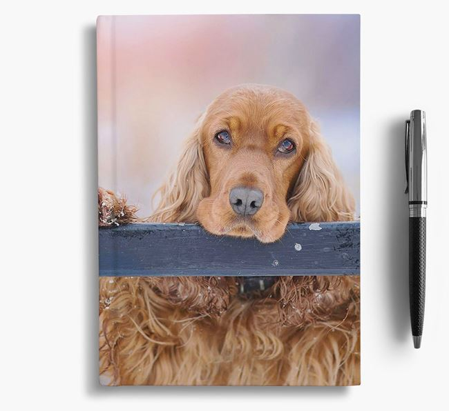 Notebook with photo of your Cocker Spaniel