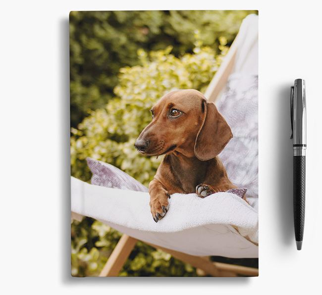 Notebook with photo of your Dachshund