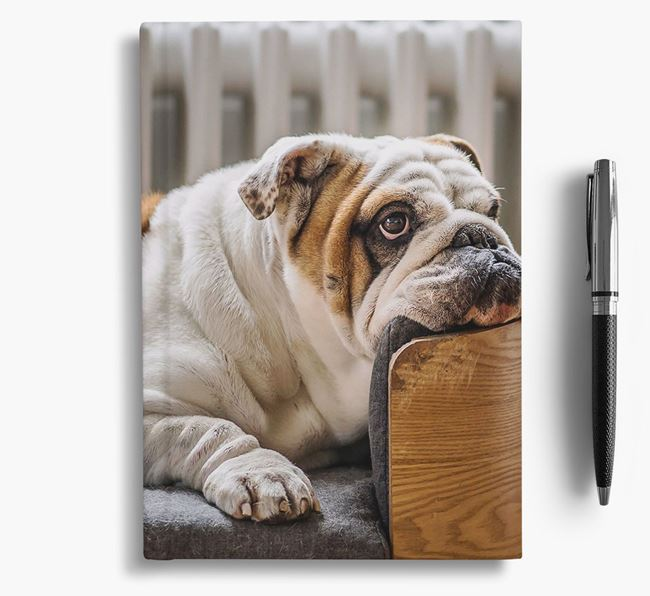 Notebook with photo of your English Bulldog