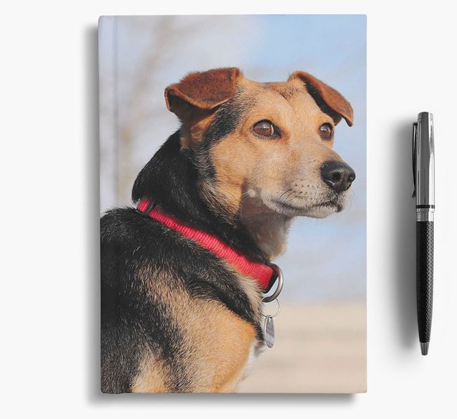 Notebook with photo of your Flat-Coated Retriever