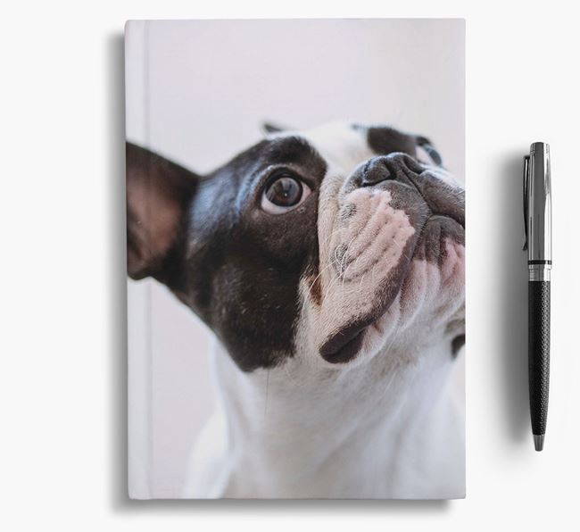 Notebook with photo of your French Bulldog