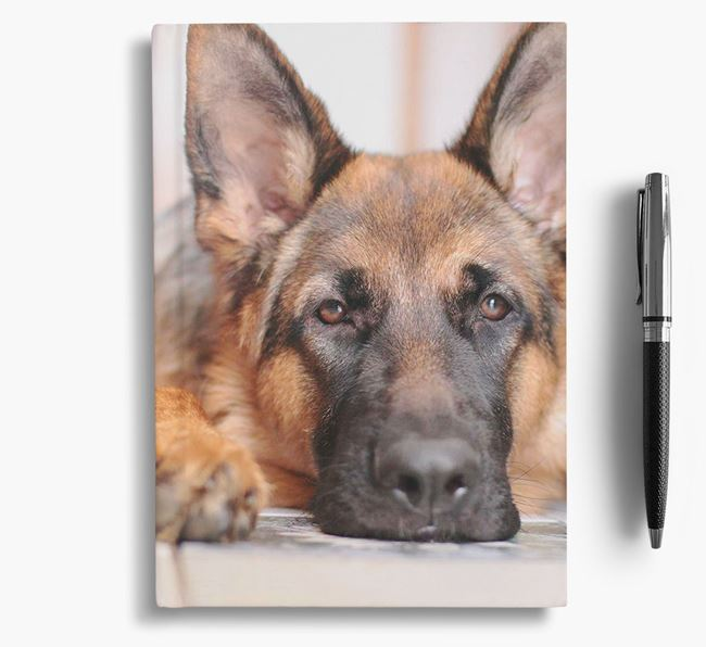 Notebook with photo of your German Shepherd