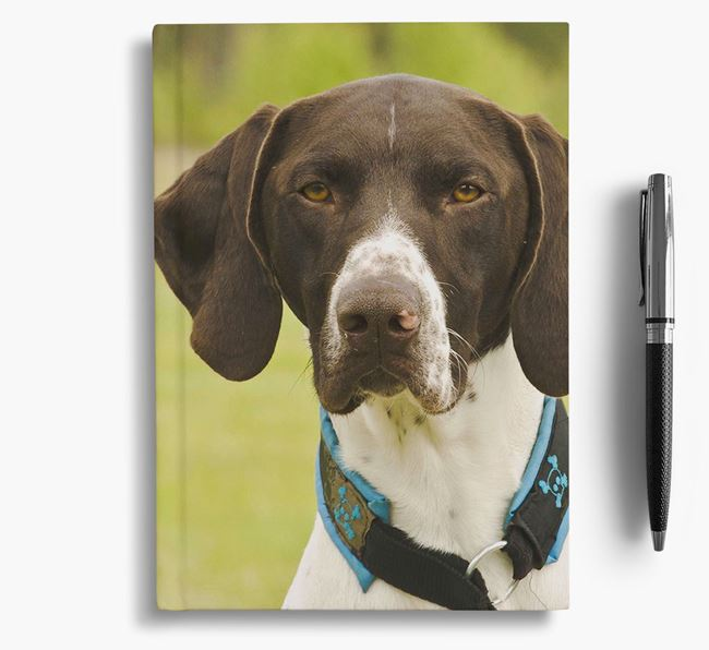 Notebook with photo of your German Shorthaired Pointer