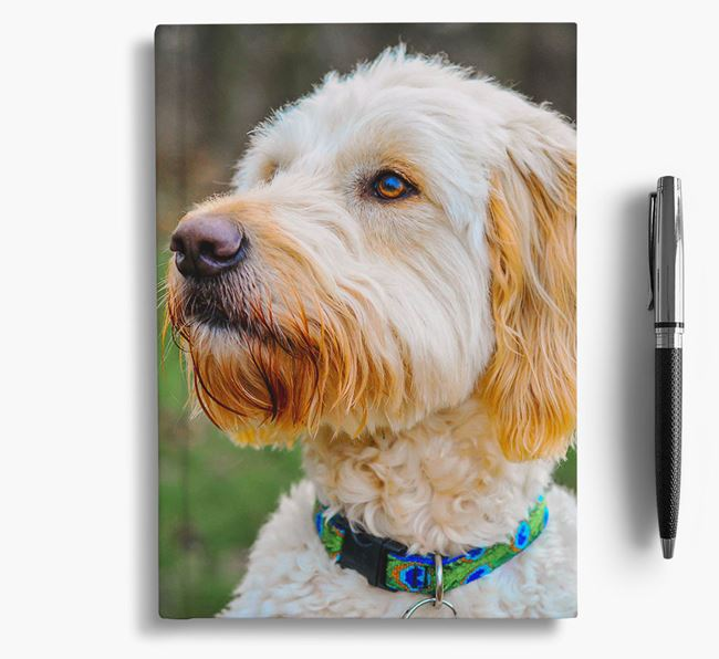 Notebook with photo of your Goldendoodle