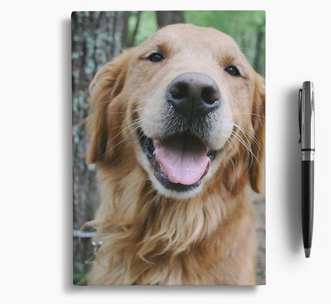 Notebook with photo of your Golden Retriever