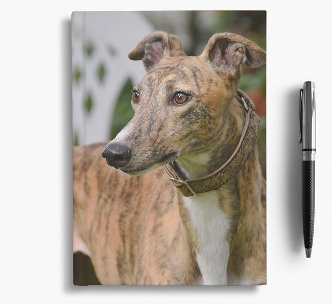 Notebook with photo of your Greyhound