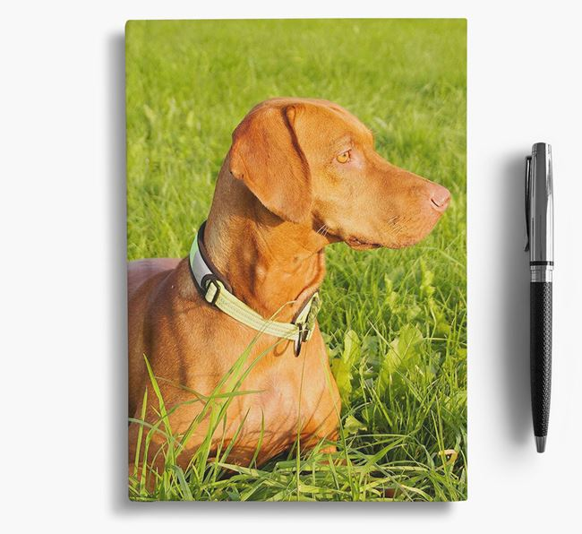 Notebook with photo of your Hungarian Vizsla