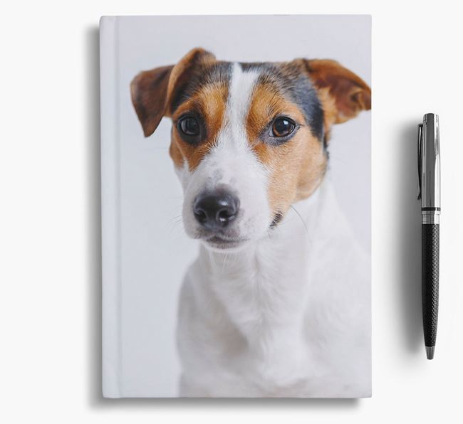 Notebook with photo of your Jack Russell Terrier