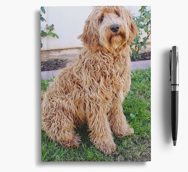 Notebook with photo of your Labradoodle