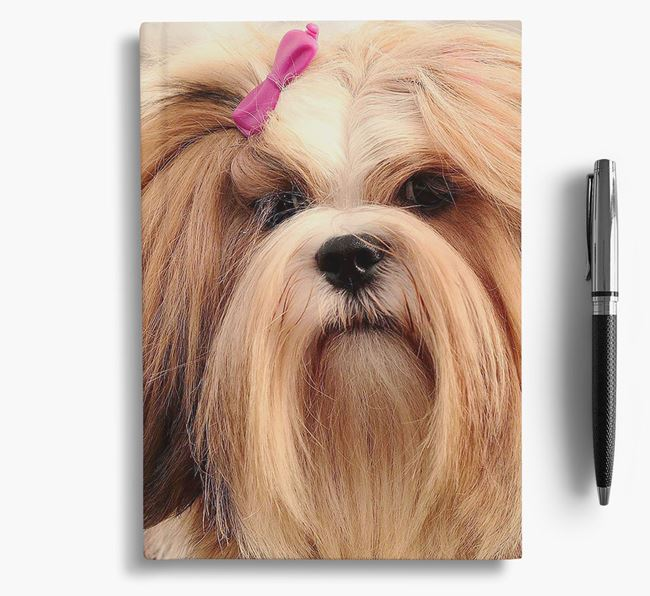 Notebook with photo of your Lhasa Apso