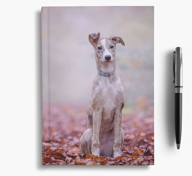 Notebook with photo of your Lurcher