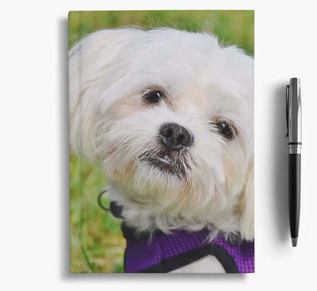 Notebook with photo of your Maltese