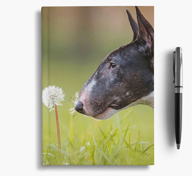 Notebook with photo of your Miniature Bull Terrier