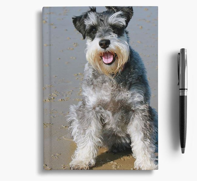 Notebook with photo of your Miniature Schnauzer