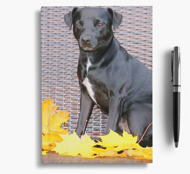 Notebook with photo of your Patterdale Terrier