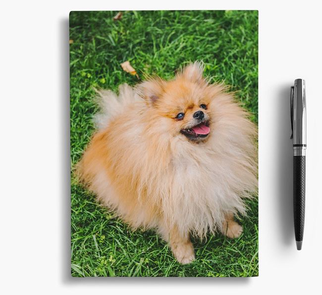 Notebook with photo of your Pomeranian
