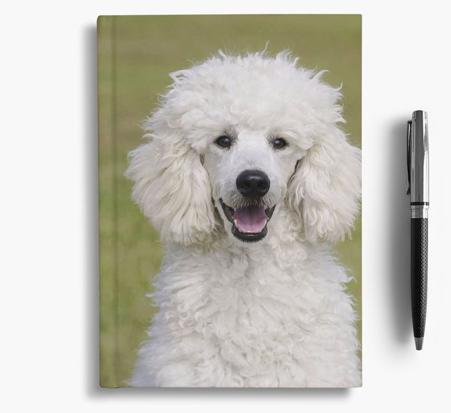 Notebook with photo of your Poodle