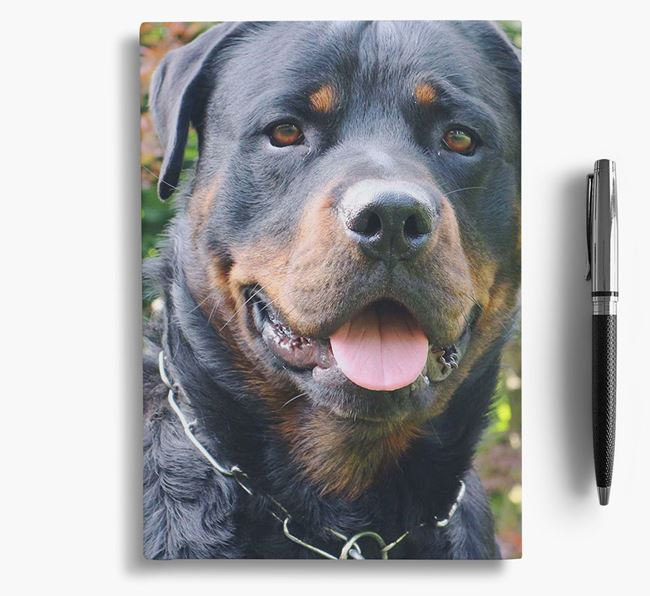 Notebook with photo of your Rottweiler