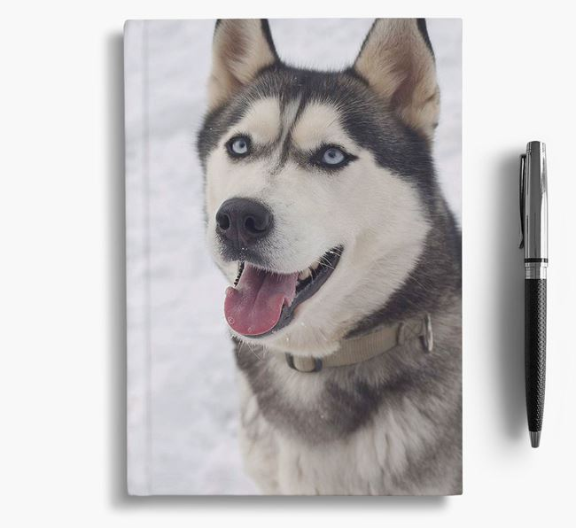 Notebook with photo of your Siberian Husky