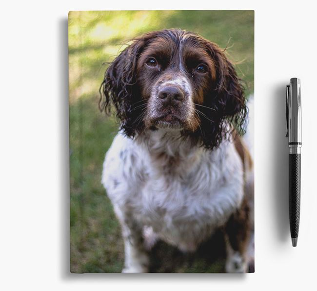 Notebook with photo of your Springer Spaniel