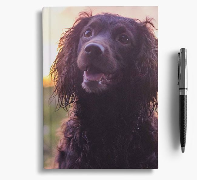Notebook with photo of your Sprocker