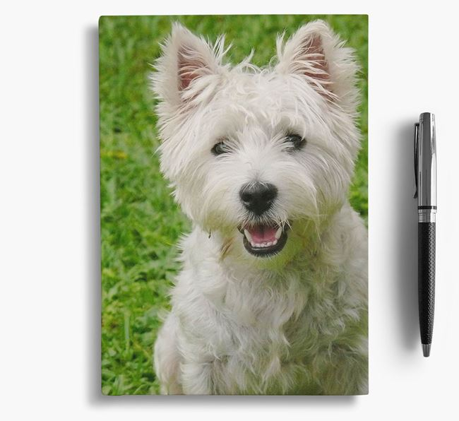 Notebook with photo of your West Highland White Terrier