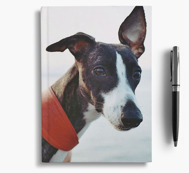 Notebook with photo of your Whippet