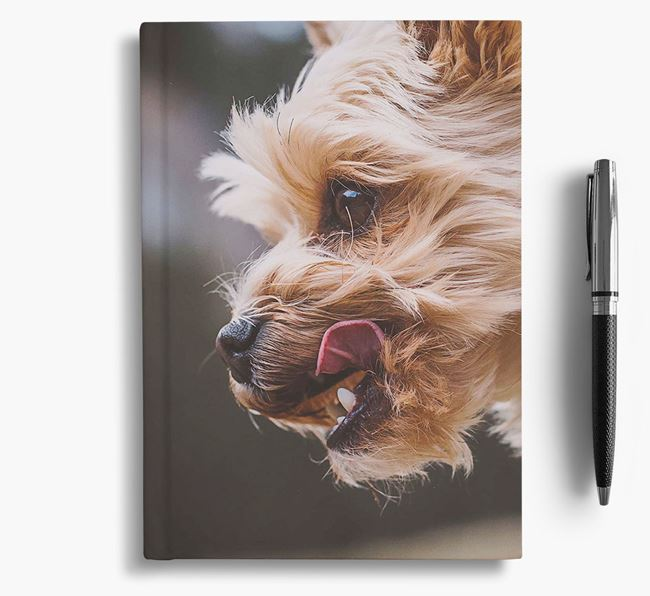 Notebook with photo of your Yorkshire Terrier