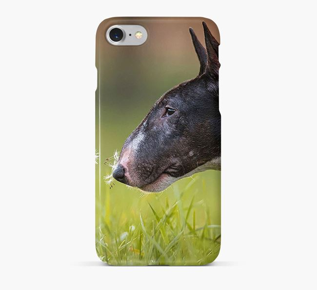 Phone Case with photo of your Miniature Bull Terrier