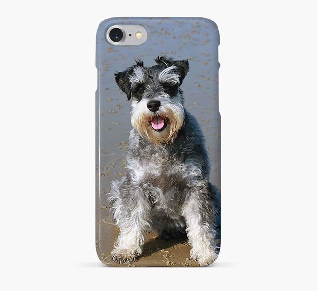 Phone Case with photo of your Miniature Schnauzer