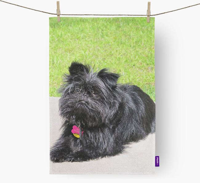 Dish Towel with photo of your Affenpinscher