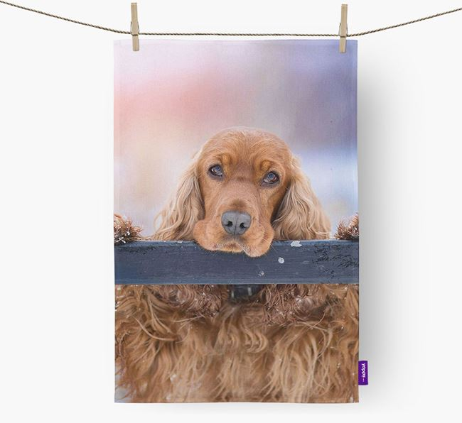 Dish Towel with photo of your Cocker Spaniel