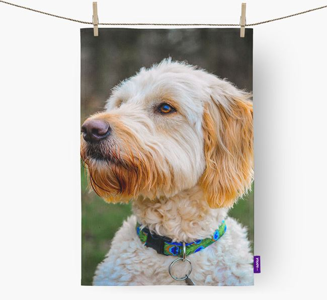 Dish Towel with photo of your Goldendoodle