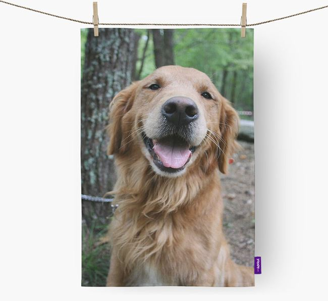 Dish Towel with photo of your Golden Retriever