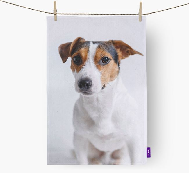 Dish Towel with photo of your Jack Russell Terrier